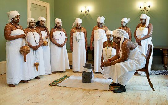 Performing white ceremony, dressed up in whites which signifies peace and unity, they gather to perform some ceremonies with singing and dancing.