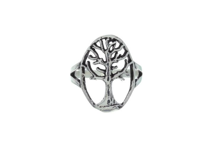 Tree of life sterling silver ring. A symbol of growth and strength. [$27.80]