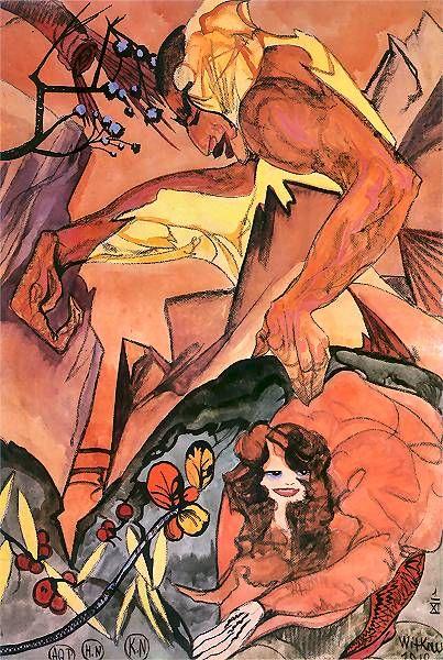 Composition (in a rocky landscape) 1918 Stanislaw Ignacy Witkiewicz