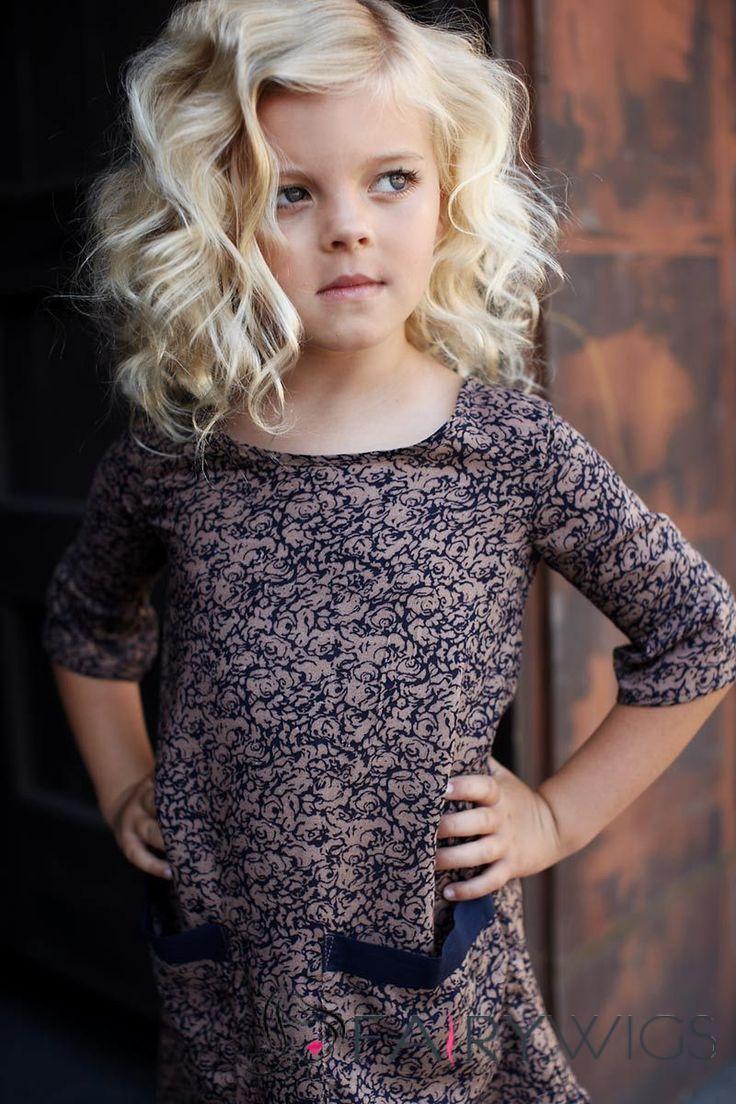 Best Medium Blonde 100% Indian Remy Hair Kids Wigs 14 Inch