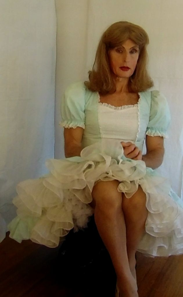 Tgirl Wearing Square Dance Dress And Petticoat Classic