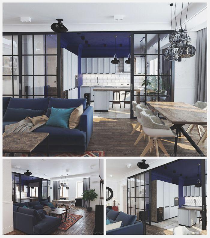 Стильная квартира 158 м² в Киеве: рендер и фото – Красивые ...