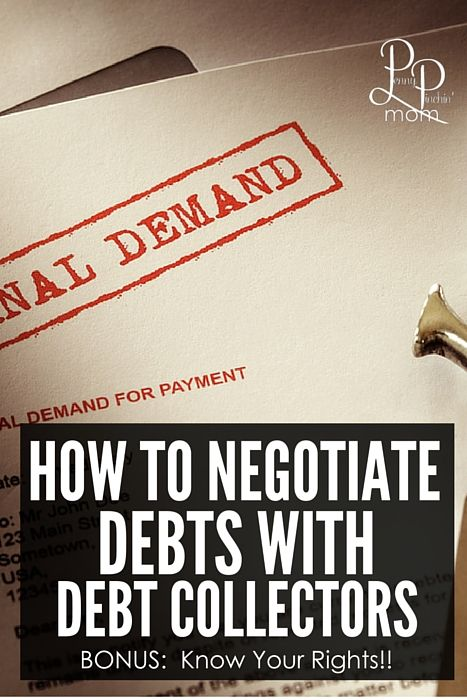 One way to learn how to get out of debt is to handle debt collections. Find out how to negotiate your debt and pay less!