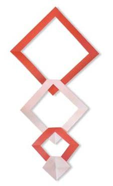 Origami Rhombus Stairs