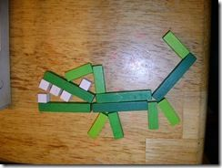 Create an alligator with Cuisenaire Rods - Add or Multiply to find the value of the Alligator. Compare it to other animals you might make.