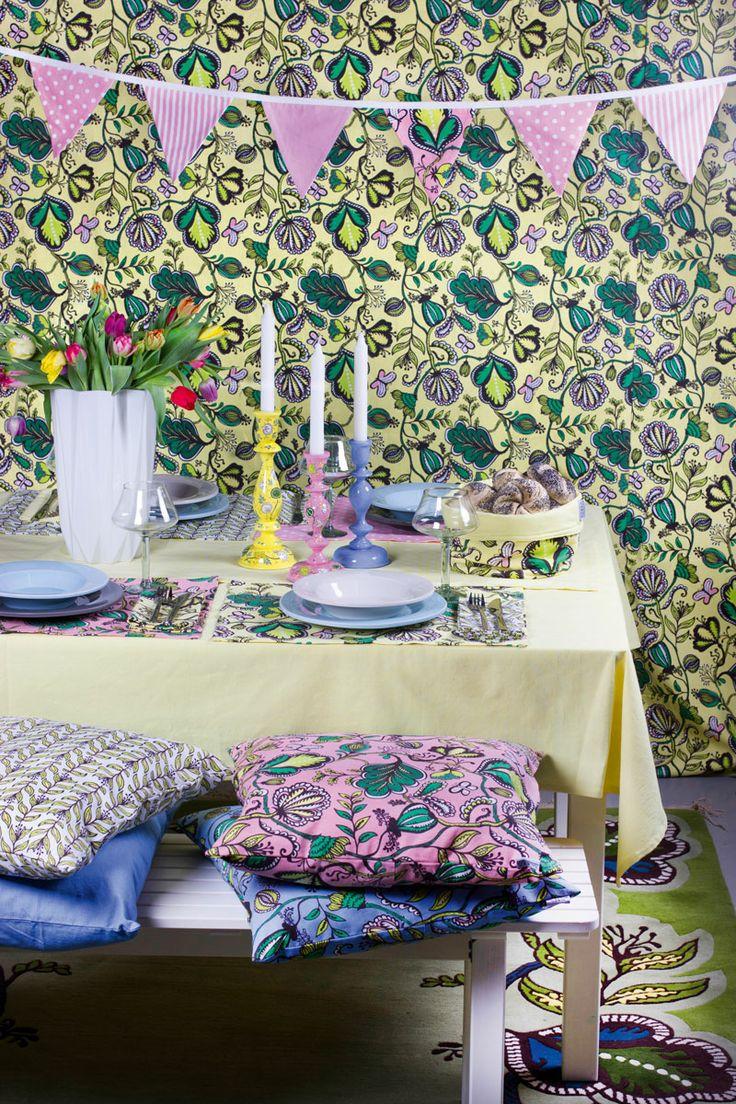 Heminredningskollektionen Prunkande Trädgård från IM Fair Trade