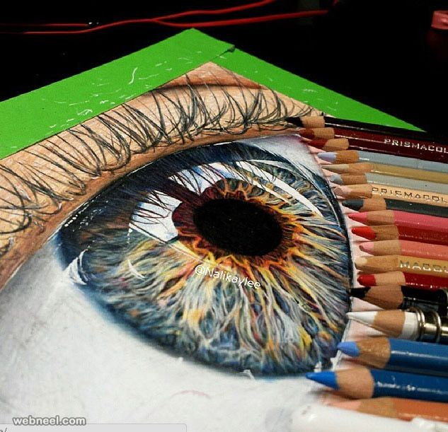 Eyes color pencil drawing by kaylee http://webneel.com/40-beautiful-and-realistic-pencil-drawings-human-eyes | Design Inspiration http://webneel.com | Follow us www.pinterest.com/webneel
