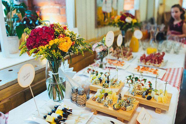 Свадебный завтрак, сырный стол