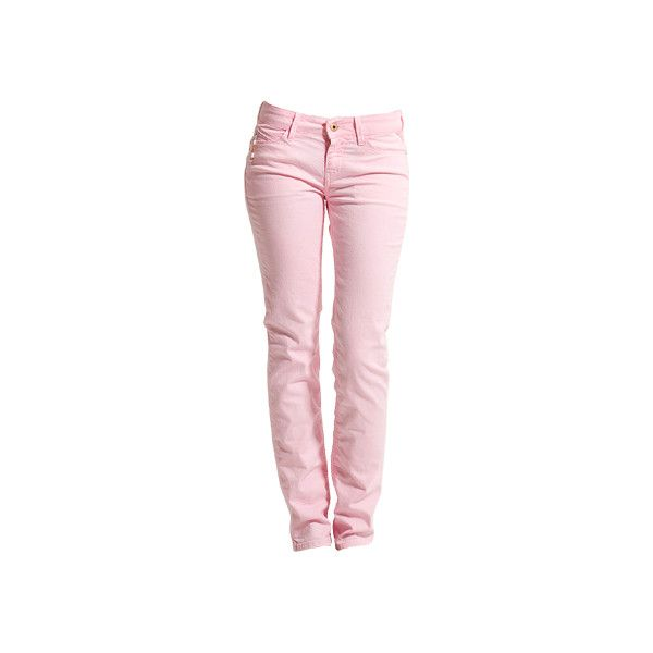 PAUBDUL Röhrenjeans in Rosa ($98) ❤ liked on Polyvore featuring jeans, pants, bottoms, calças, pink jeans, replay jeans and pink skinny jeans