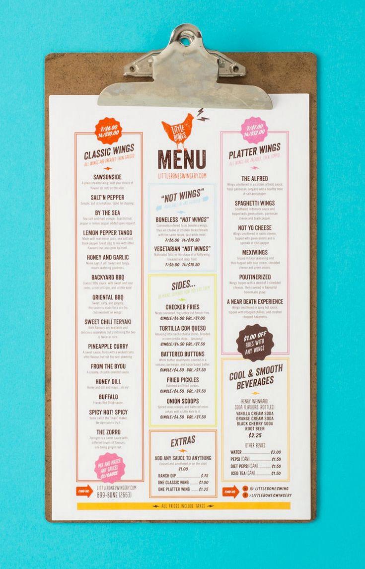 White apron menu warrington - 46 Creative Restaurant Menus Designs