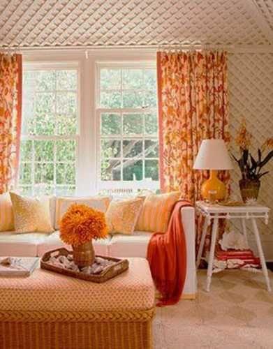 80 best COLOR Orange Home Decor images on Pinterest Living room