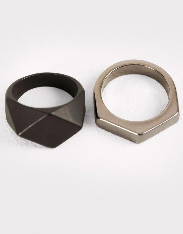 Pull&Bear – hombre – accesorios – pack anillos variados – varios – 09995506-I201…