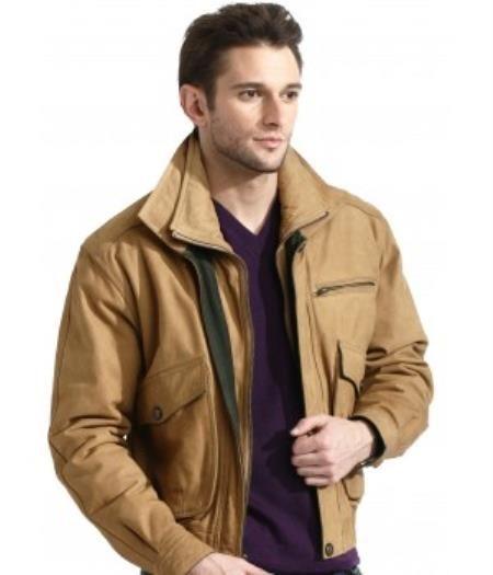 Men's Classic Tan Bomber Jacket