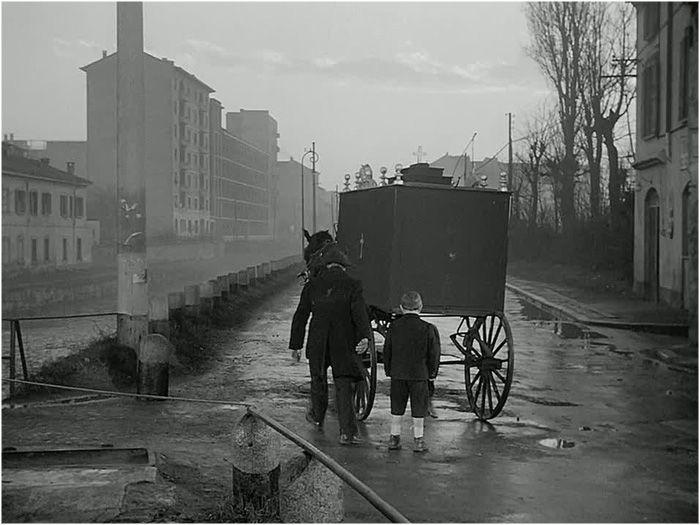 Via Melchiorre Gioia, altezza Via Edolo (Miracolo a Milano - 1951) #fotografia #milano #cinema #storia
