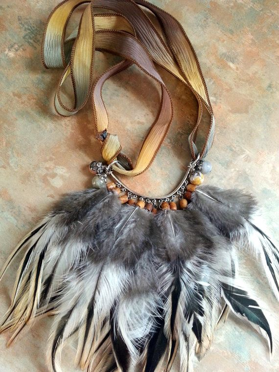 Gorgeous Ameraucana Rooster Feather Silk by WolfMountainJewelry   28.00