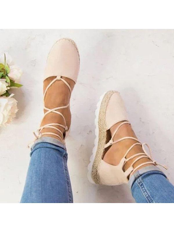 SOCOFY Plain Flat Velvet Ankle Strap Round Toe Casual Date Flat Sandals -  Shoesmillions.com a0a584f76cab