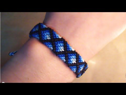 Tutorial pulsera de hilo ➢ Modelo diamantes con relleno // Macrame - YouTube