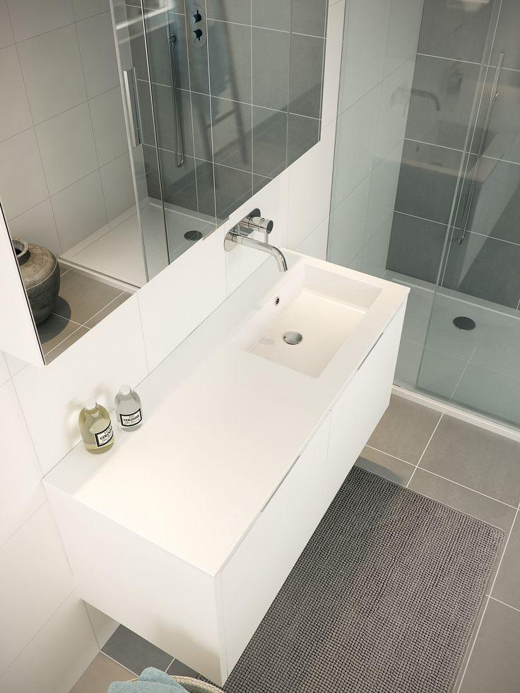 Bruynzeel badmeubel Matera en Zeta douchedeur / badkamerkast / badkamer idee / meuble salle de bain