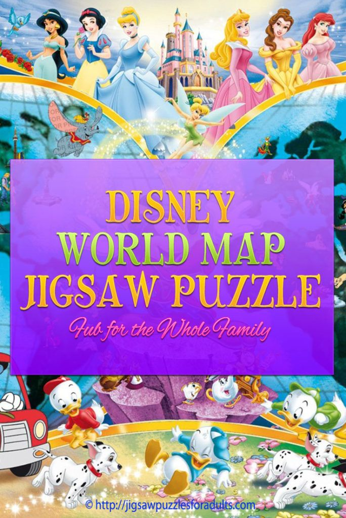 Disney World Map Puzzle is fabulous fun for the whole family! If you're a Disney fan you'll absolutely love the cool Ravensburger jigsaw puzzle. Our family just loved working on this 1000 piece Disney world jigsaw puzzle that is filled with all the Disney characters!
