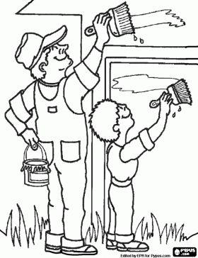 Maestra de Primaria: Dibujos de oficios para colorear. Profesiones.
