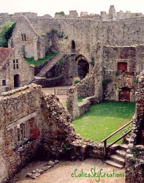 English Castle Ruins  Isle of Wight  Ruins by CalicoSkyCreations, $25.00