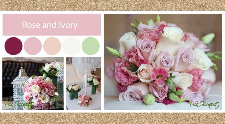 Rose & Ivory style board by Le Bouquet Weddings | Le Bouquet St-Laurent Florist