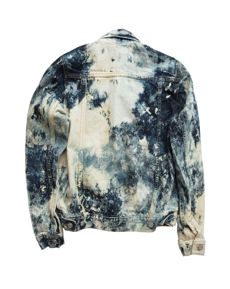Hand-Bleached Denim Jacket