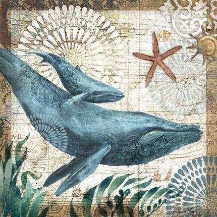 Monterey Bay Whales Sq by Geoff Allen | Ruth Levison Design