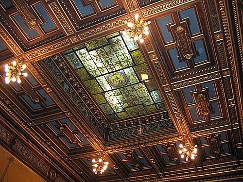 (1675) Palazzo Cisterna - La salle au plafond jaune