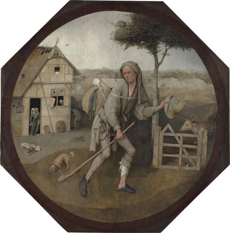 Hieronymus Bosch, El vendedor ambulante, o también: El hijo pródigo, entre 1494-1516 (Panel exterior de un tríptico perdido). Óleo sobre tabla, 71cmx70,6cm). Museo Boijmans Van Beuningen