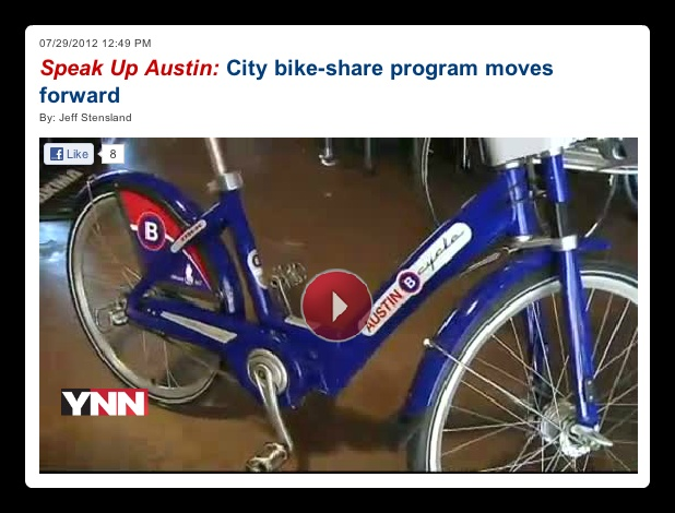 """In an effort to combat the growing number of drivers on Austin's already congested roads, officials with the City of Austin are developing a city-wide bike sharing program. "" This bike share program should start rolling out this year (2012)Start Rolls, Growing Numbers, City'S Widding Bikes, Pedestrian Interesting, Bikes Shared, Cities Widding Bikes, Shared Programs, Years 2012, Congestion Roads"