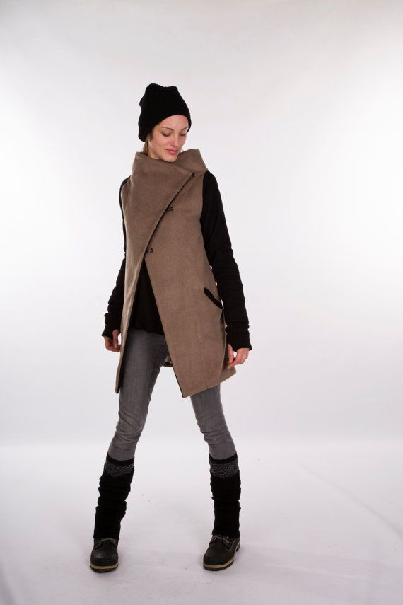 Hey, I found this really awesome Etsy listing at https://www.etsy.com/listing/217822534/brown-winter-coat-beige-winter-coat