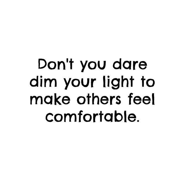 Don't ever dim your light | Skirt the Ceiling | http://skirttheceiling.com