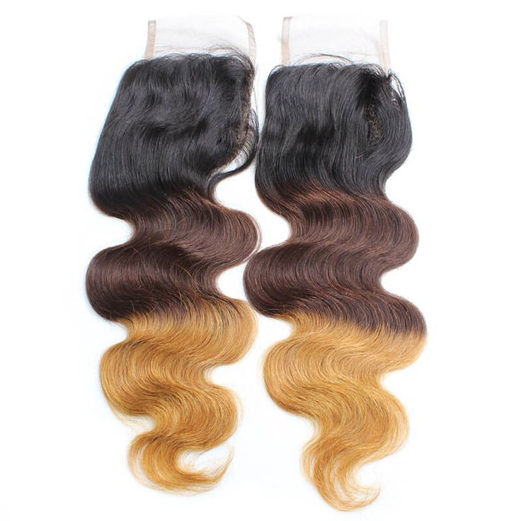 【Brazilian Diamond Virgin Hair】weave sew in styles ombre hair pieces best lace closure weave 3 part closure human hair products Cheappest 4x4 body wave closure piece #ombrehair #laceclosure