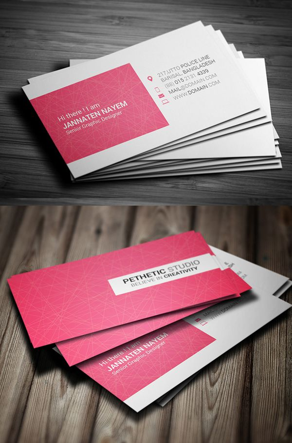 Creative Business Card PSD Template #businesscards #visitingcards #printready #psdtemplates