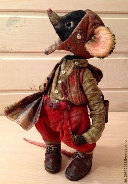 Джеймс Браун- отважный путешественник - друзья тедди,чёрный,мышонок,интерьерная игрушка