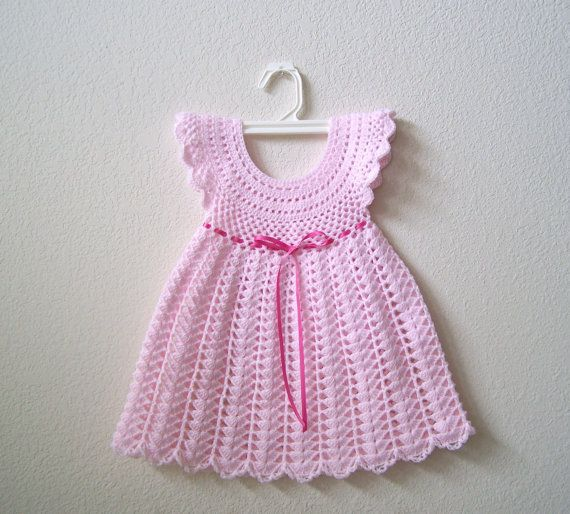 Crochet Baby Dress  Baby Crochet Dress by craftswithlove4U on Etsy, $35.00