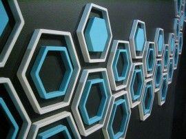 3D Muurdecoratie ZESHOEK