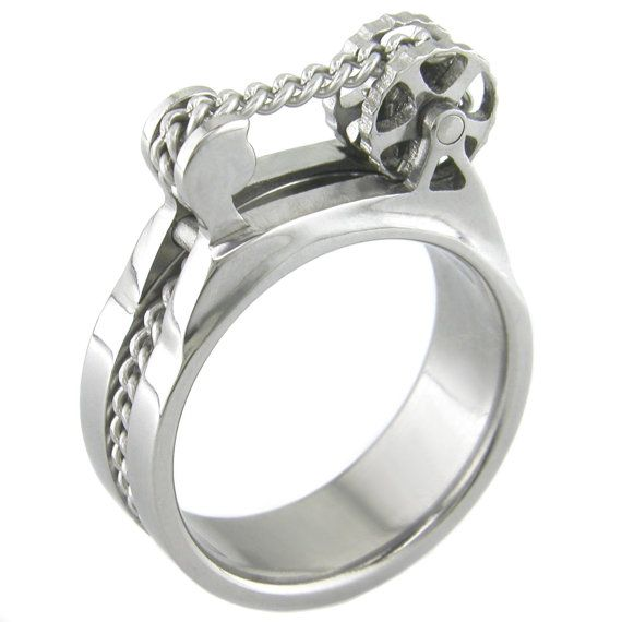 Bike Drivetrain Titanium Ring by boonerings on Etsy, $495.00