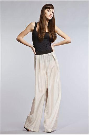 TUSNELDA BLOCH   Habutai Silver Pants $ 165
