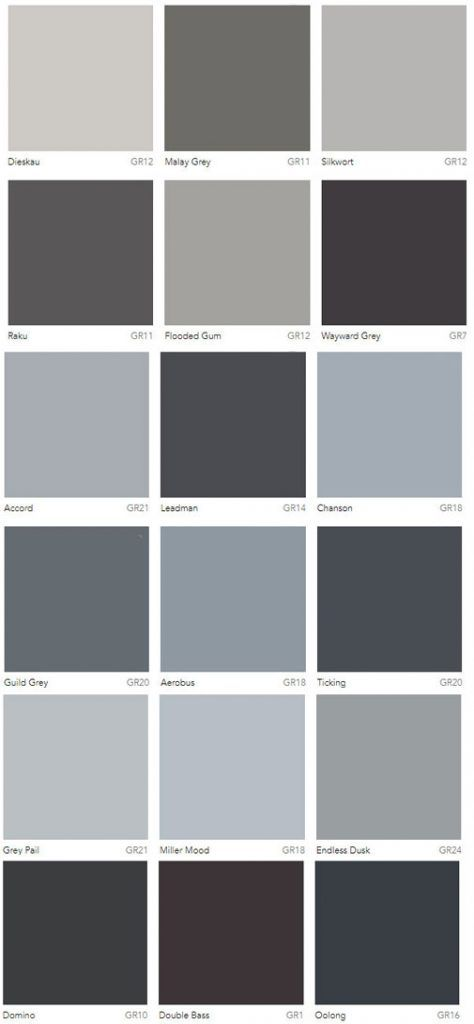 Dulux Grey Paint Color Selection In 2019 Colour Chart Colors