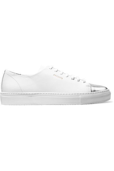 Axel Arigato | Metallic-trimmed leather sneakers | NET-A-PORTER.COM
