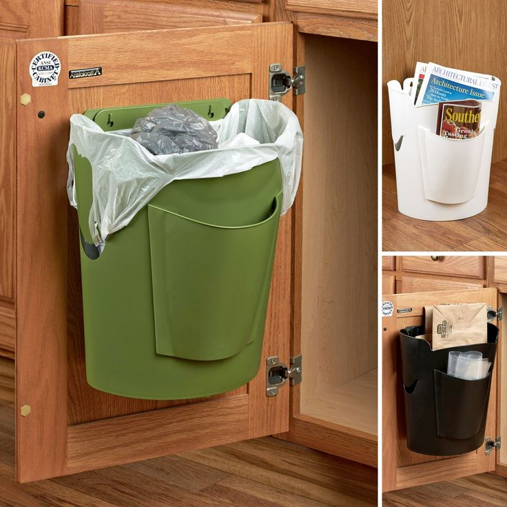 Bagsavr Trash Can Reuses Your Grocery Bags Kitchen