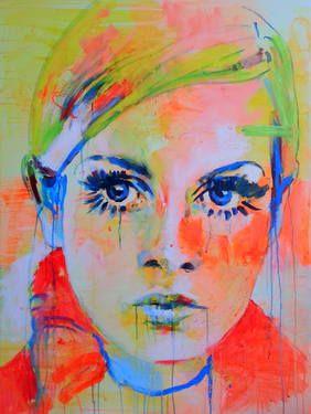 Portrait of Twiggy by Marta Zawadzka