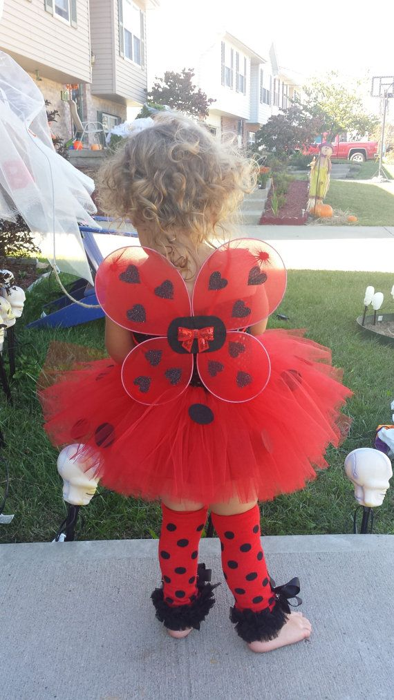 Complete Ladybug Tutu Dress Headband Wings & by BottomsNBows