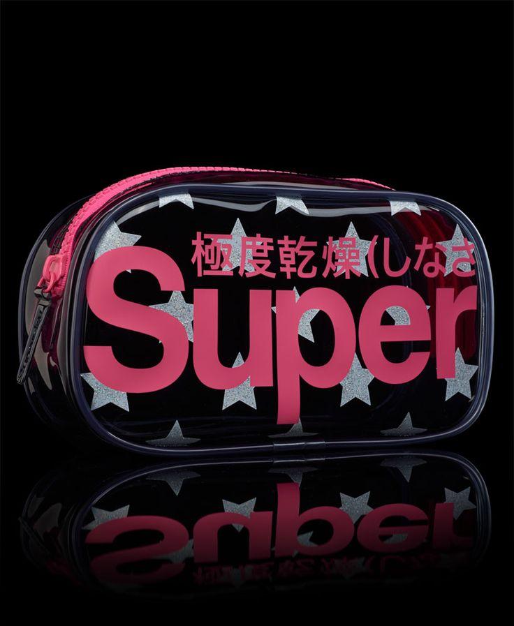 Superdry Glitter Stars Bag in Smoke/Silver