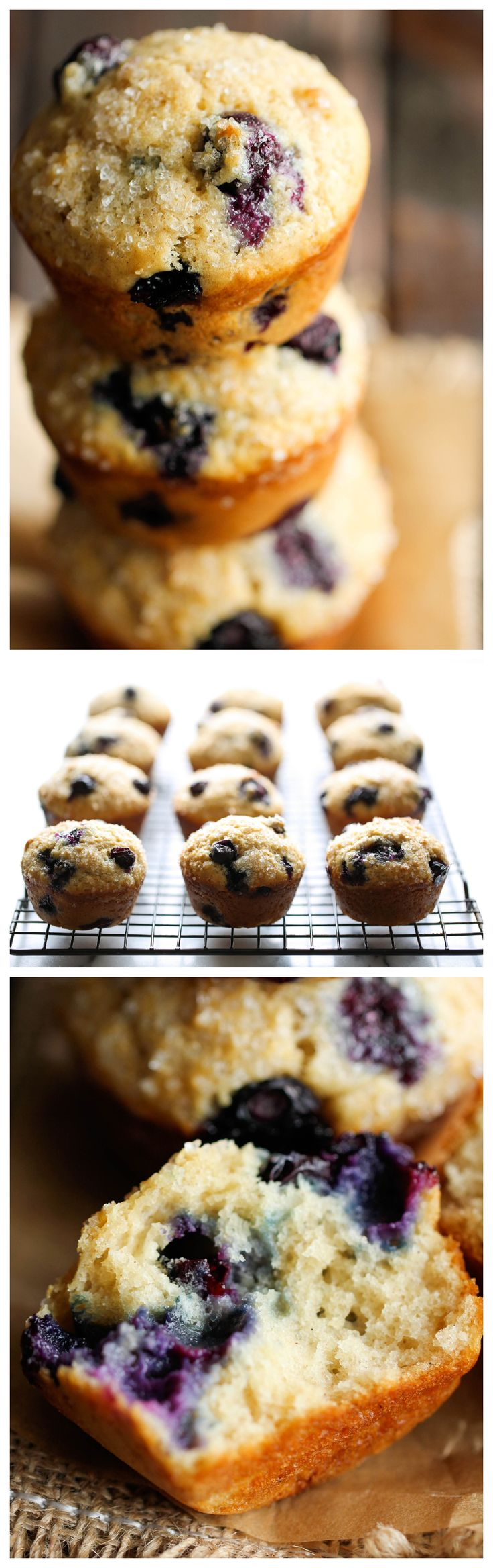 Blueberry Vanilla Muffins - These light and airy muffins are loaded with juicy blueberries and extra vanilla goodness!
