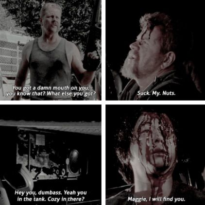 First and last words of Abraham and Glenn