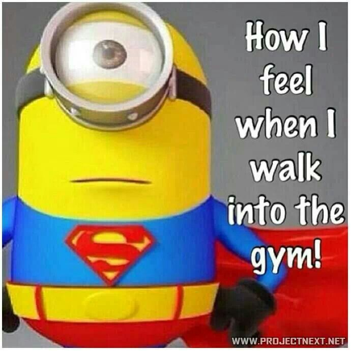 How I feel when I walk to the gym #funny #quote #minion