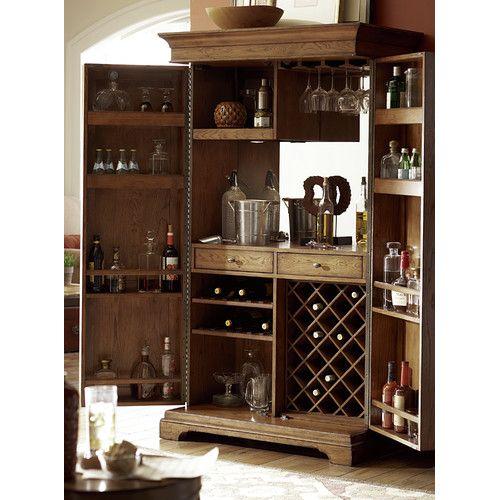 Found it at Wayfair - Hidden Treasures Bar Cabinet with Wine Storage